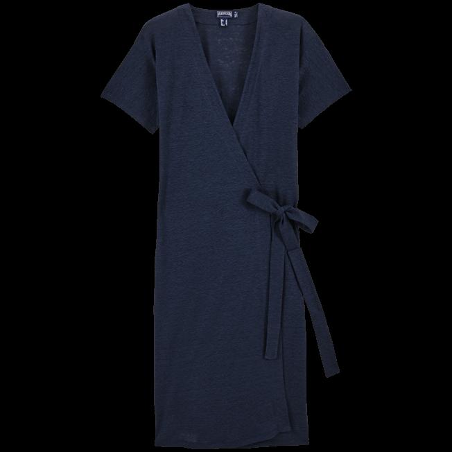 Vilebrequin - Solid Linen Wrap-Around Dress - 1