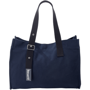 Others Solid - Big Cotton Beach Bag Solid, Navy front