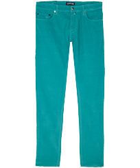Men Others Solid - Men Corduroy 5 Pockets Pants, Turquoise front