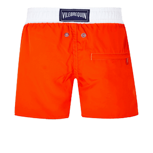 Boys Others Solid - Boys Swim Trunks Ultra-Light and Packable Solid Bicolor Fluo, Neon orange back