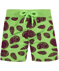 Jungen Andere Bedruckt - Boys Ultra-light and packable Swimwear Shell Game Flocked, Neon grün front