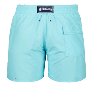 Men Classic Solid - Men swimtrunks Solid, Aquamarine back