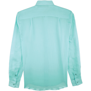 Men Shirts Solid - Unisex Cotton Voile Shirt Solid, Lagoon back