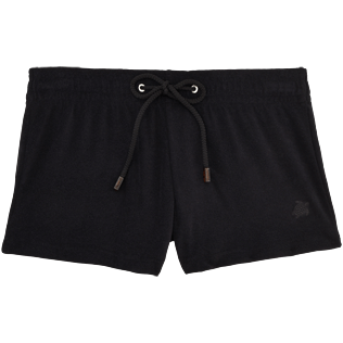 Women Shorties Solid - Women Terry Cloth Shortie Solid, Black front