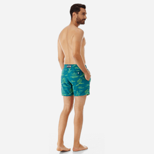 Men Embroidered Embroidered - Men Embroidered swimtrunks St Tropez - Limited Edition, Pine wood backworn