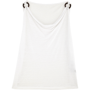 Women Others Solid - Women Cowl neck Linen Jersey Top Solid, White front