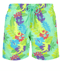 Men Classic Printed - Men Swim Trunks Les Geckos, Cardamom front