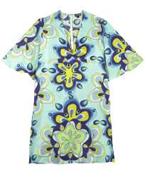 Women Others Printed - Women Silk Dress Kaleidoscope, Lagoon front