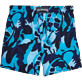 Men Stretch classic Printed - Camouflage Turtles Superflex Swim shorts, Azure back