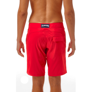 Men Long Solid - Solid Superflex Long fitted cut Swim shorts, Poppy red supp3