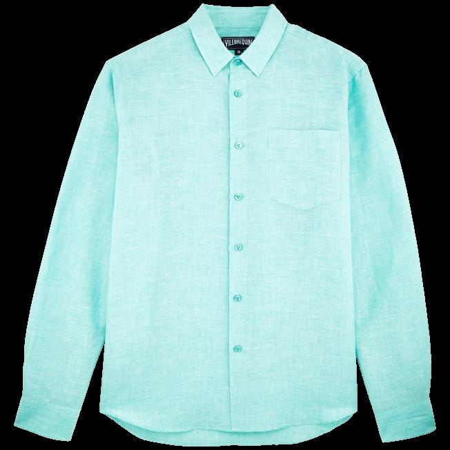 Vilebrequin - Camisa en lino de algodón liso para hombre - 1