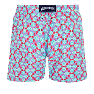 Men Classic Printed - Men Swim Trunks Data Turtles, Cherry blossom back
