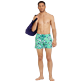 Men Stretch classic Printed - Men Swim Trunks Stretch Sharks - Web Exclusive, Veronese green supp2