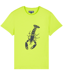 Men Others Printed - Men Cotton T-Shirt Lobster 3D effect, Lemongrass front