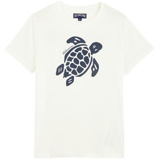 Herren Andere Bedruckt - Men Organic Cotton T-Shirt Turtle Team, Chalk front