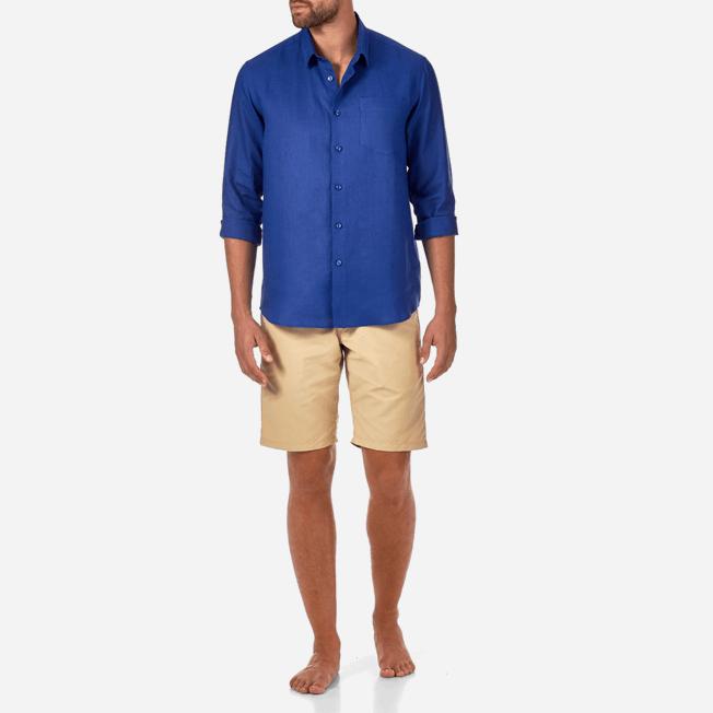 Vilebrequin - Men Linen Shirt Solid - 3