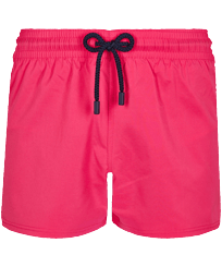 Men Short classic Solid - Men Swim Trunks Short and Fitted Stretch Solid, Shocking pink front