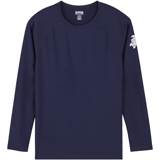 Men Others Solid - Unisex Long Sleeves Rashguards Solid, Navy front