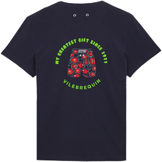 Men Others Printed - Men Cotton T-Shirt Crackers, Navy front
