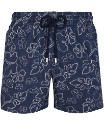 Men Stretch classic Printed - Men Stretch Short Swim Trunks 1996 Gilbert Tropic, Navy front