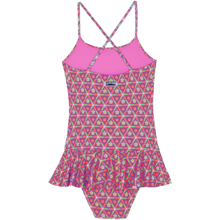 Girls Others Printed - Girls One-piece Swimsuit Indian Ceramic, Pink berries back