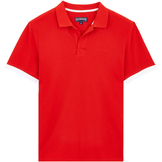 Men Others Solid - Men Cotton Polo Shirt Solid, Medicis red front