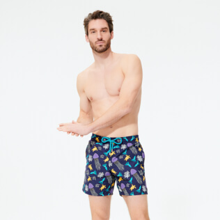 Men Classic Printed - Men Swimwear Rocket Medusa, Sapphire frontworn