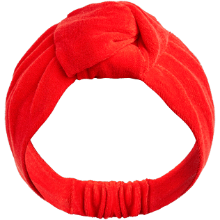 Women Others Solid - Women Headband in terry - Vilebrequin x JCC+ - Limited Edition, Poppy red front