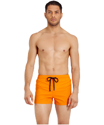 Men Short classic Solid - Men Swimwear Short and Fitted Stretch Solid, Safran frontworn