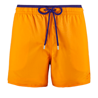 Men Classic Solid - Men Swimtrunks Bicolor, Kumquat front