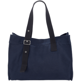 Others Solid - Big Cotton Beach Bag Solid, Navy back