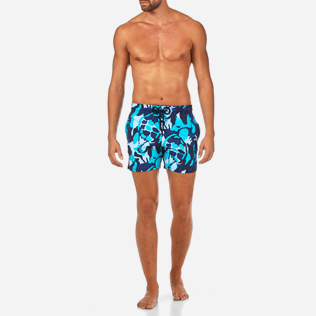 Men Stretch classic Printed - Camouflage Turtles Superflex Swim shorts, Azure frontworn
