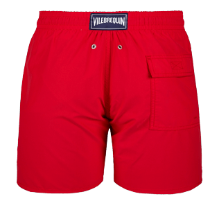Men Classic Solid - Men Swimwear Solid, Red polish back