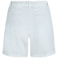 Women Others Solid - Women Linen Bermuda Shorts Solid, White back