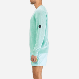 Men Others Solid - Men Cotton Linen Pullover Solid, Lagoon supp3
