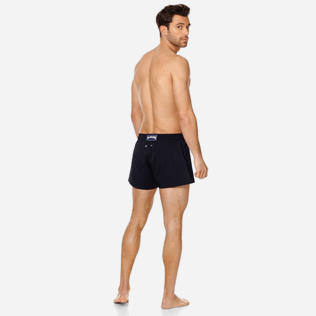 Men Short classic Solid - Men Swim Trunks Short and Fitted Stretch Solid, Black backworn