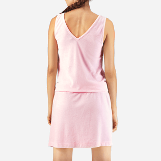 Women Dresses Solid - Solid Terry Tank dress, Peony supp2