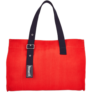 Bags Solid - Large Solid Beach Bag, Poppy red front