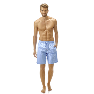 Men Long classic Solid - Solid Long Cut Swim shorts, Sky blue frontworn
