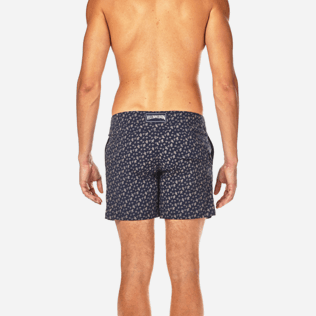 Men Fitted Printed - Micro Ronde des Tortues Superflex Fitted cut Swim shorts, Navy supp2