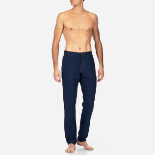 Men Others Solid - Indigo Pants, Indigo frontworn