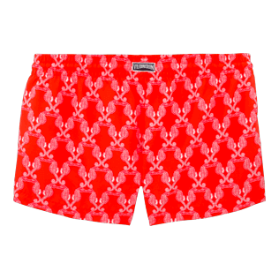 Women Shorties Printed - Valentine Day Hippocampes Straight cut shortie, Poppy red back
