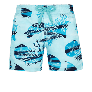 Boys Others Printed - Boys Swim Trunks Ocean Currents, Horizon front