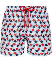 Men 017 Embroidered - Men Swim Trunks Embroidered - Limited Edition, Sky blue front