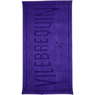 Others Solid - Beach Towel in Terry Cloth Solid Jacquard, Amethyst front