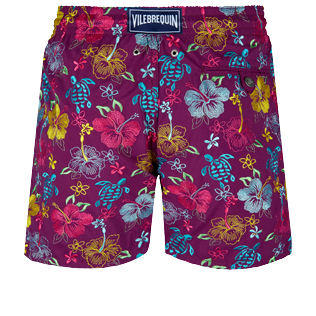 Men Classic Embroidered - Men Swim Trunks Embroidered Tropical turtles - Limited Edition, Kerala back