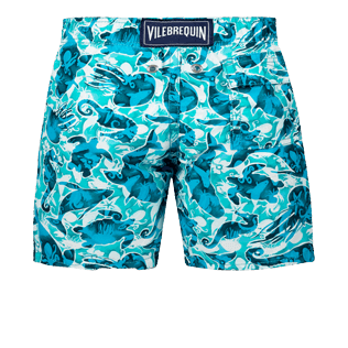 Boys Others Printed - Boys Swimwear Double Focus - Web Exclusive, Mint back