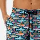Men Long classic Printed - Men Long Stretch Swimwear Mykonos, Tropezian blue supp1