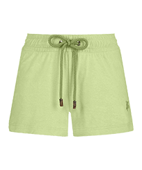 Women Others Solid - Women Terry Cloth Shorty Solid, Coriander front