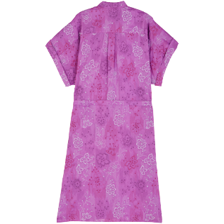 Women Others Embroidered - Women Silk Cotton Shirt Dress Embroidery, Orchid back